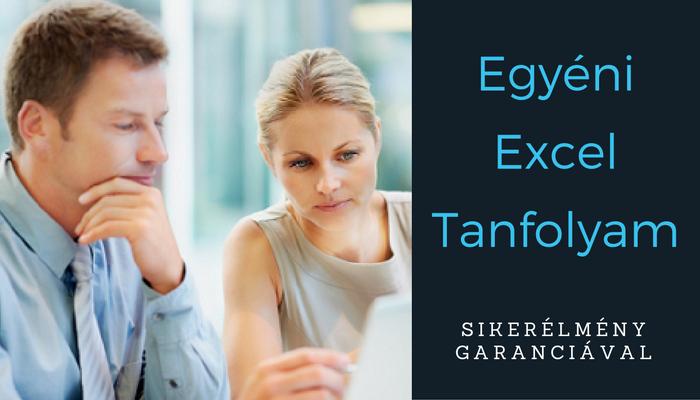 Tanuld velünk az Excelt: önállóan az Excel feladatsorok megoldásával, és személyesen profi oktatónktól.