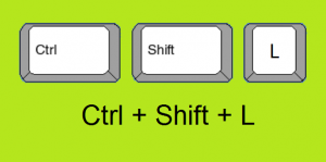 Szűrő gyorsbillentyű (Ctrl Shift L) ki és bekapcsoláshoz