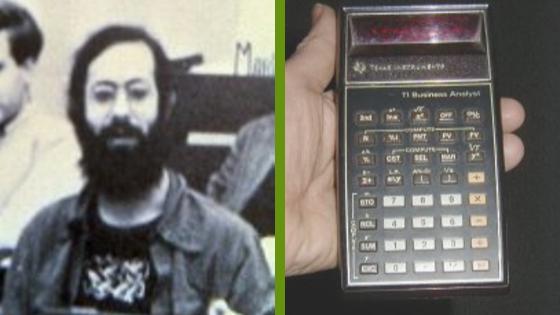 Dan Bricklin, a VisiCalc ötletgazdája és akkori számológépe