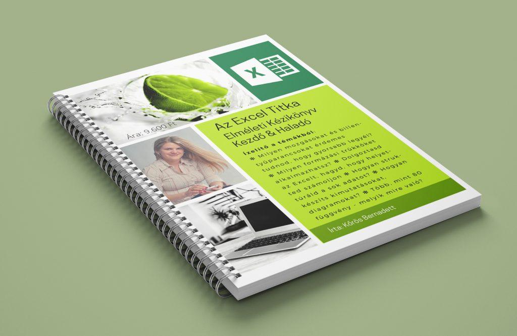 Excel könyv kezdő és haladó szinten az Excel leghasznosabb funkciói.