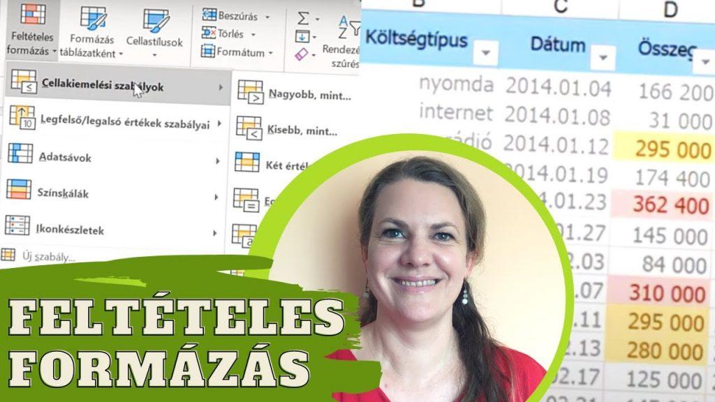 Ingyenes Excel oktató videók a feltételes formázásról, hasznos Excel tippek
