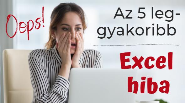 Ez az Excel videó megmutatja a leggyakoribb Excel hibákat