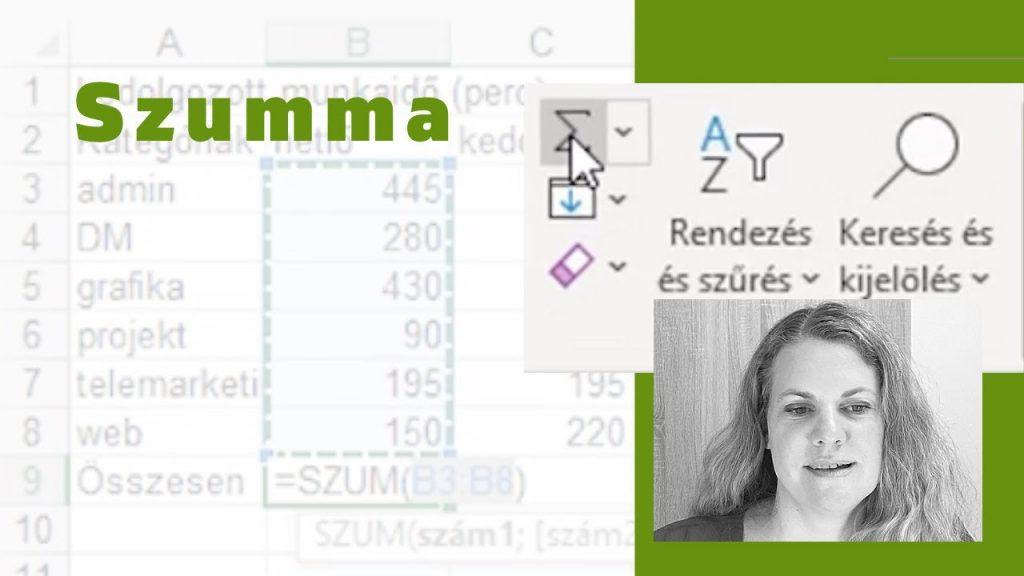 Tanuld meg a szummázást ebből az ingyenes Excel oktató videóból